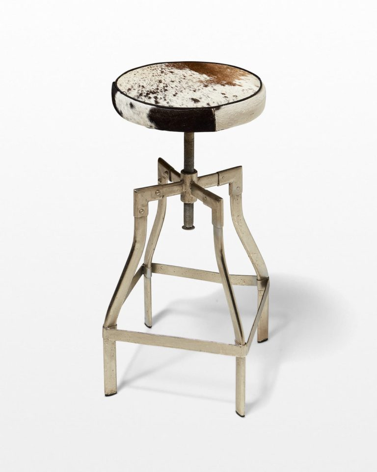 Front view of Ella Hide Stool