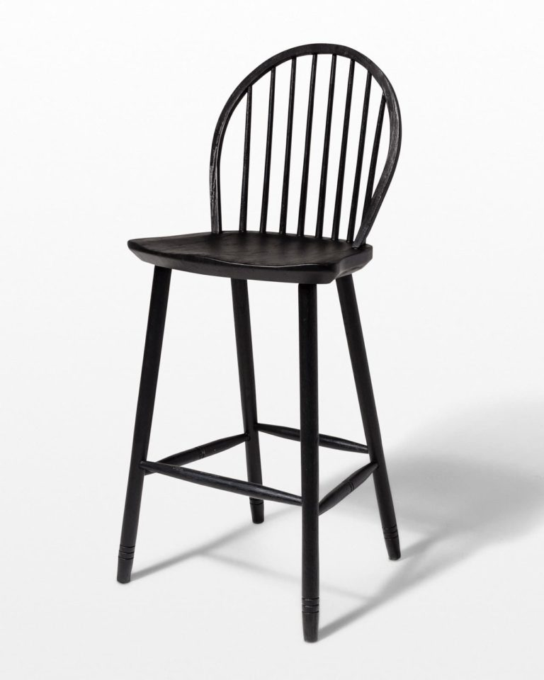 Front view of Black Oak Stool