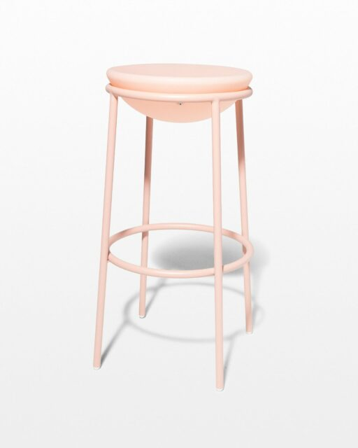 Front view of Rosewater Crescent Stool