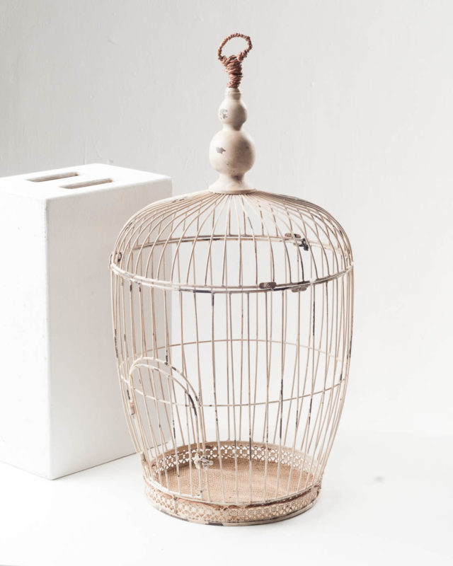 Front view of Round Top Bird Cage