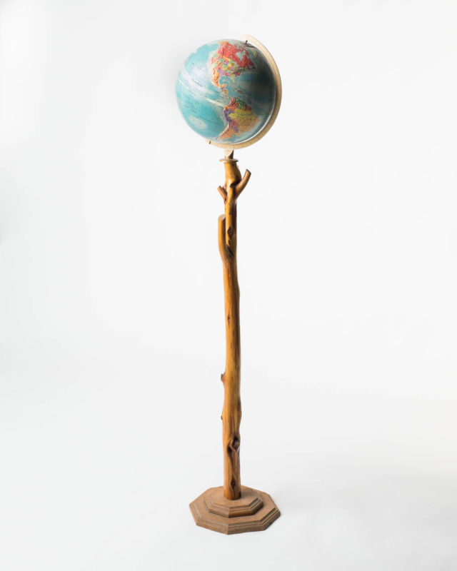 Front view of Globe On A Branch