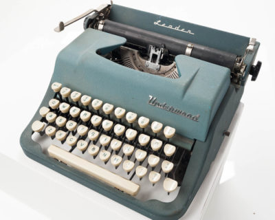 Alternate view 1 of Underwood Teal Typewriter