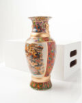 Front view thumbnail of Floral Heron Vase