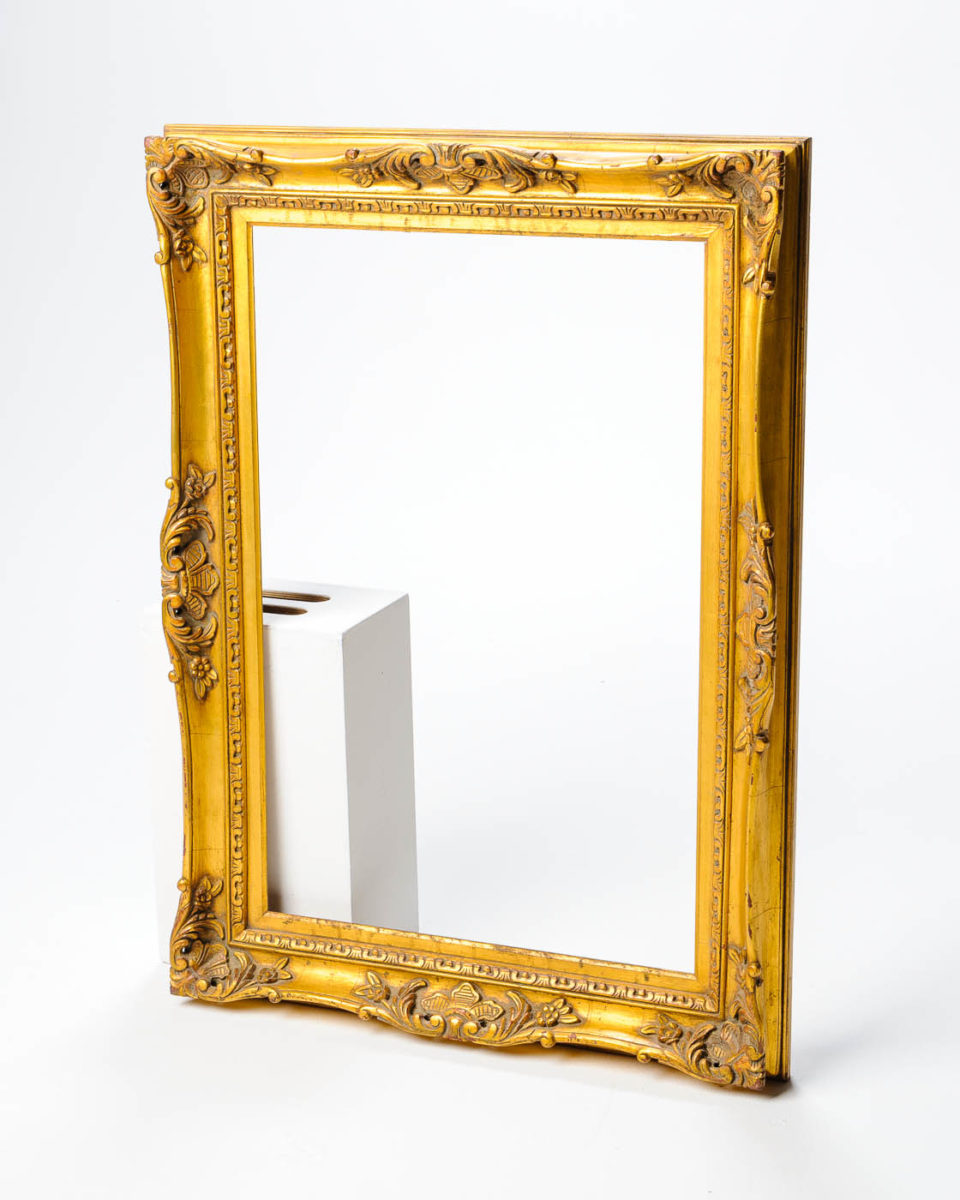 "Front view of Baroque 33"" x 45"" Frame"