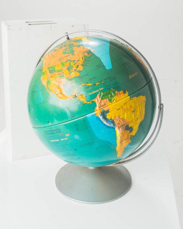 Front view of Large Geographic Globe