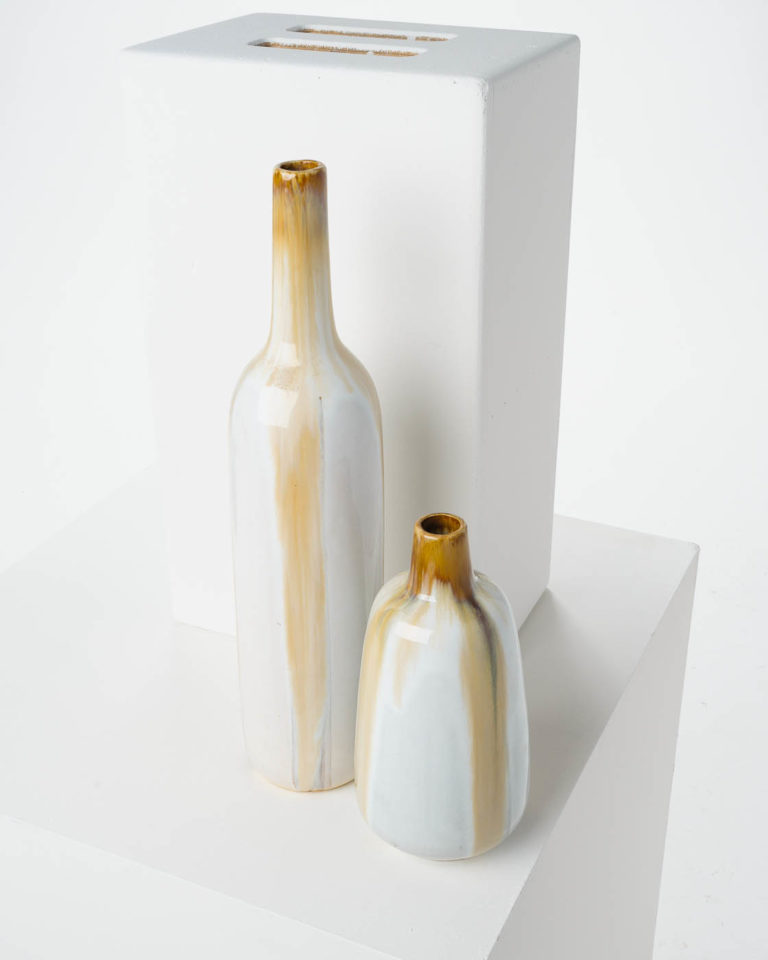 Front view of Drip Glass Vase Set