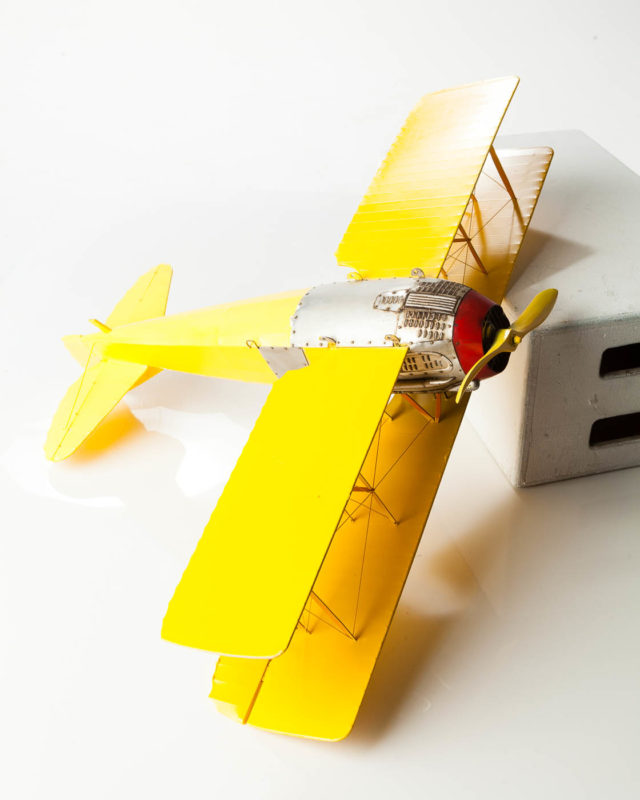 Front view of Canary Model Airplane