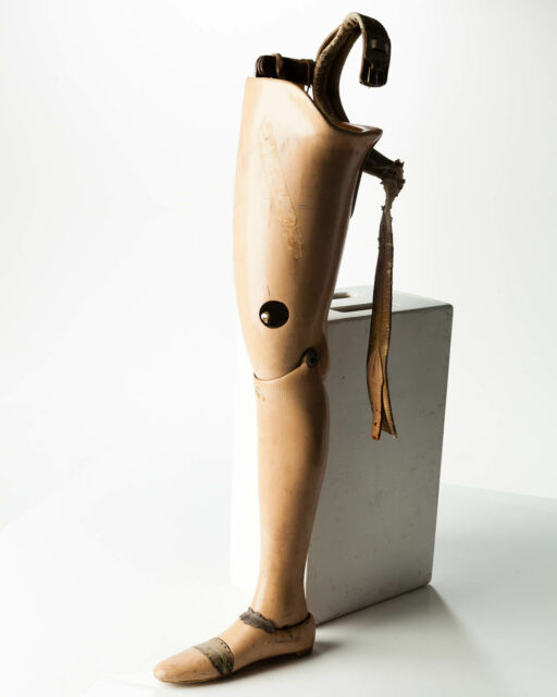 Front view of Antique Prosthetic Leg
