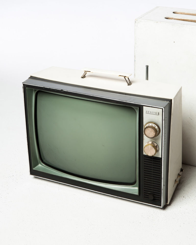 Front view of Louis Television