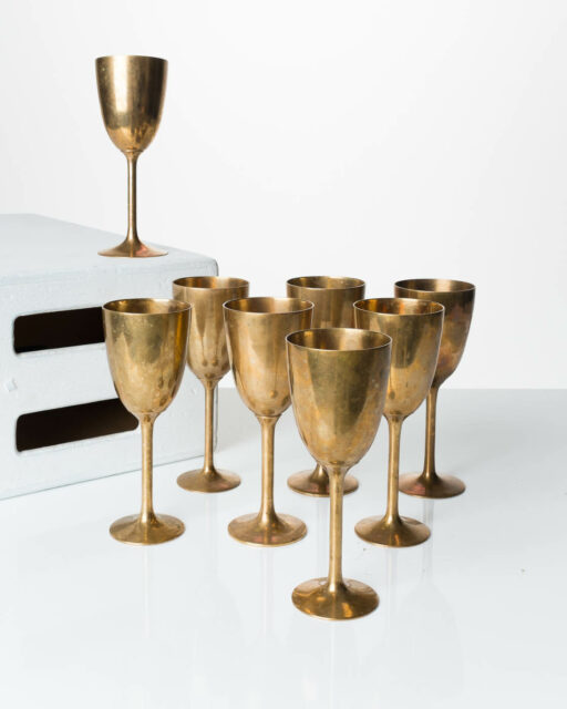 Front view of Arthur Golden Chalice Set