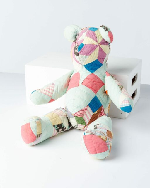 Front view of Quilted Teddy Bear