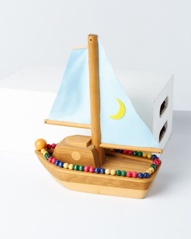 Front view of Sunset Toy Boat