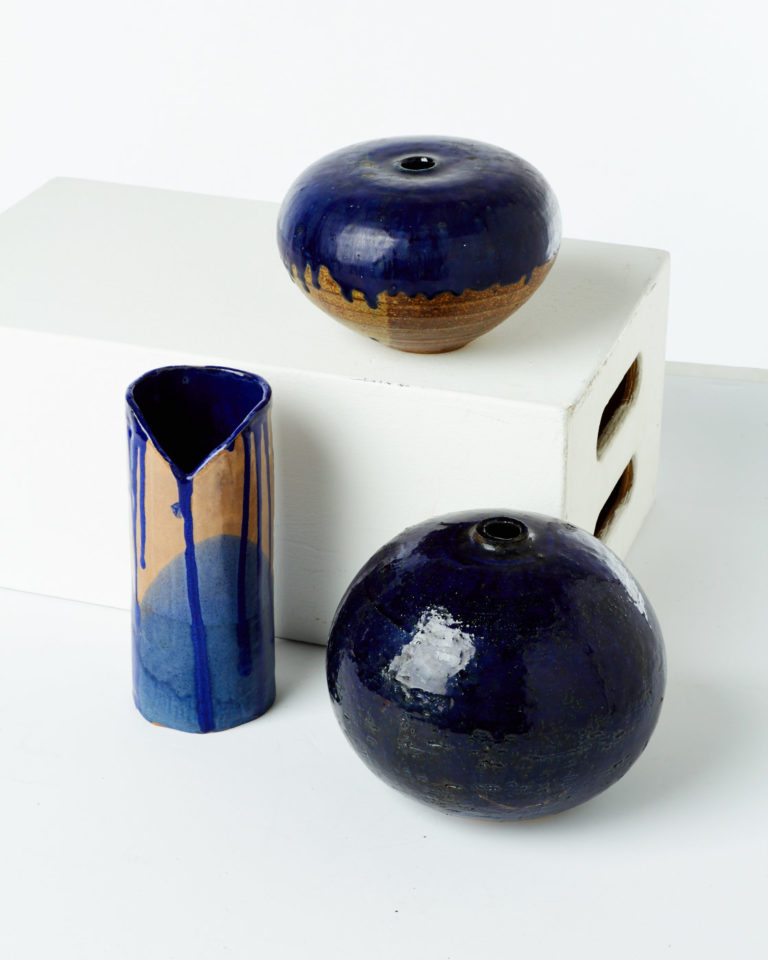 Front view of Gabriel Pottery Vase Set