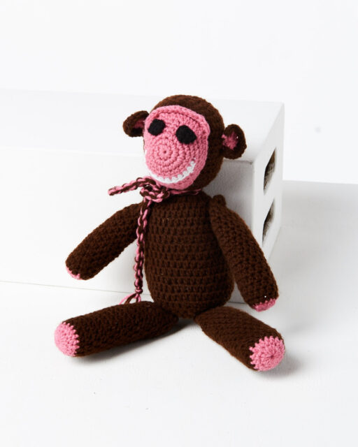 Front view of Julian Crochet Monkey
