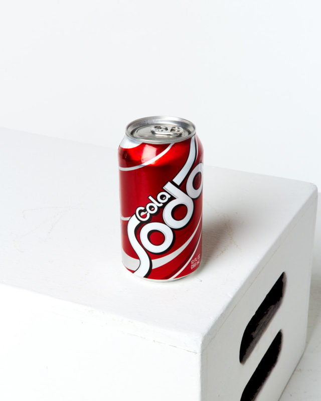 Front view of Generic Cola Soda Can