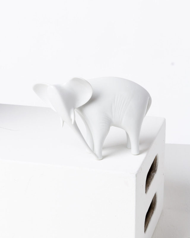 Front view of Jumbo Ceramic Elephant
