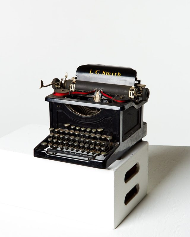 Front view of Locke Typewriter