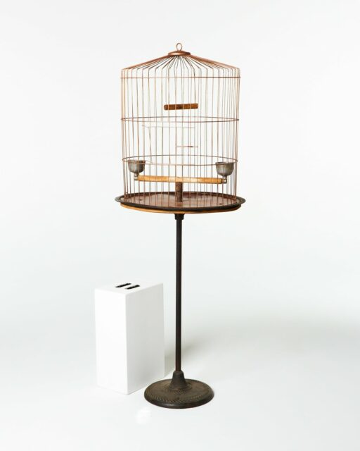 Front view of Barbosa Birdcage on Stand