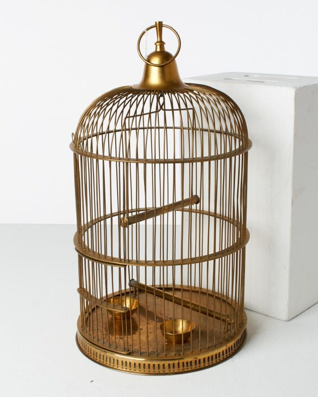 Front view of Eleanor Bird Cage