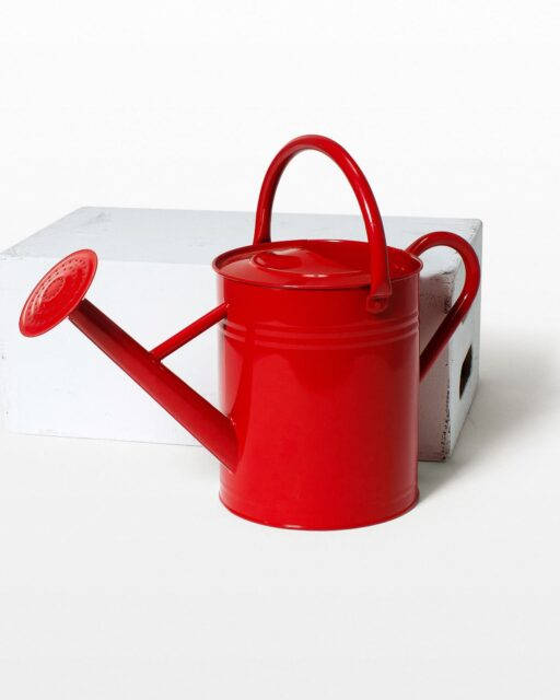 Front view of Kay Red Watering Can