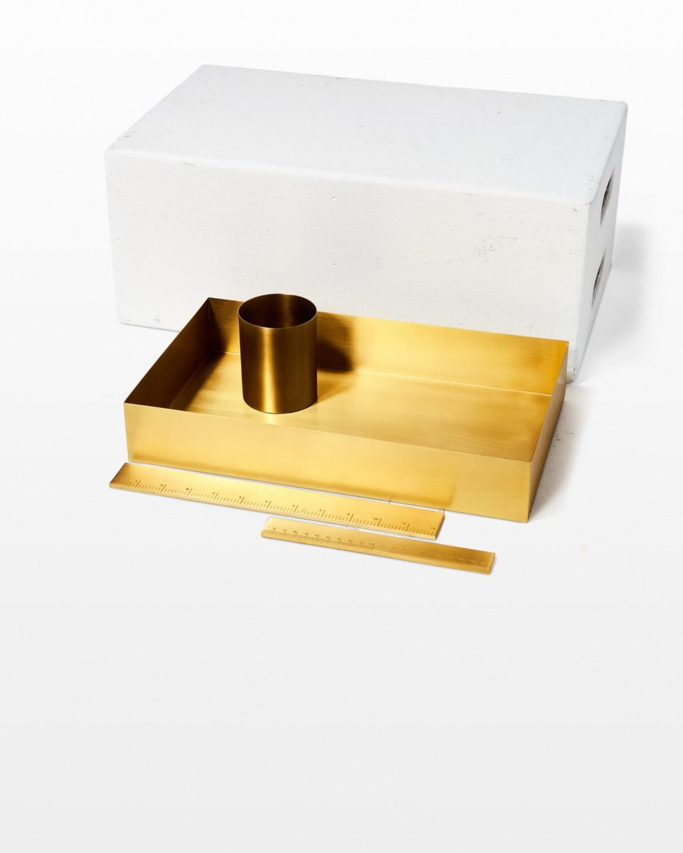 Front view of Jared Copper Desk Set