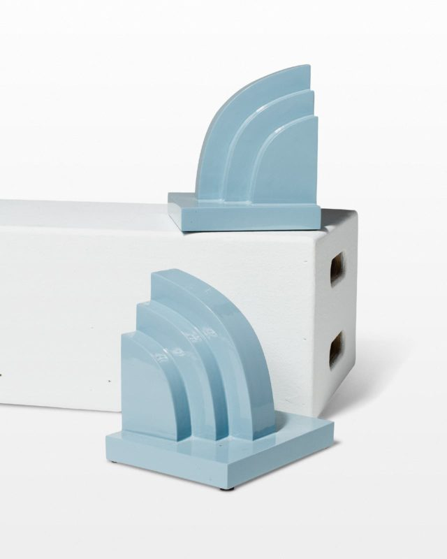 Front view of Sky Bookends