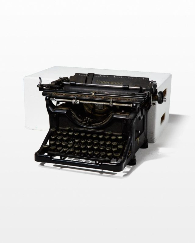 Front view of Underwood Upright Typewriter