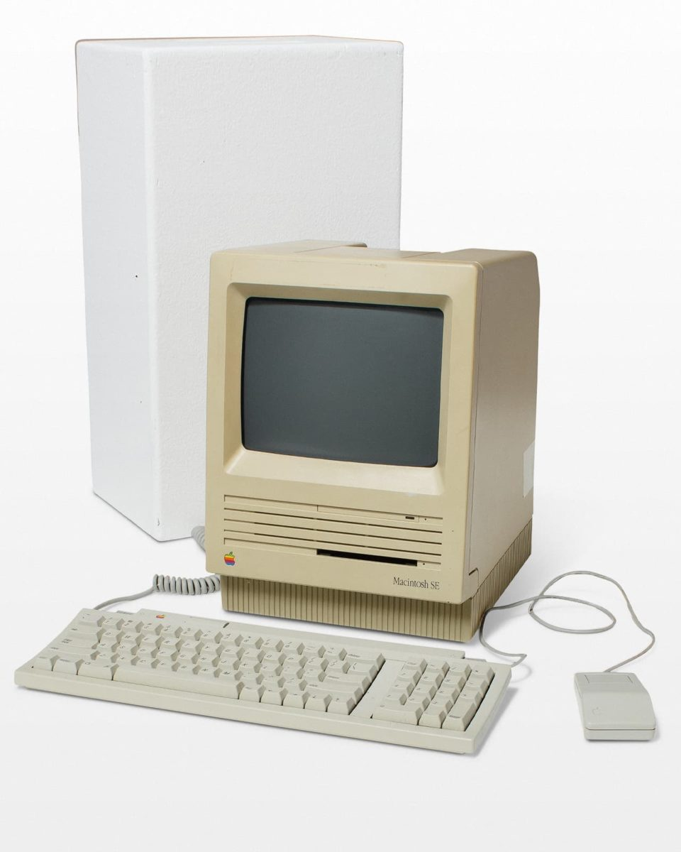 Front view of Macintosh SE Desktop Computer