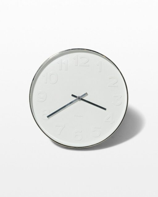 Front view of White Wall Clock