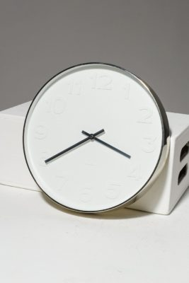 Alternate view 1 of White Wall Clock
