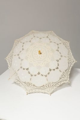 Alternate view 2 of Ivory Lace Crochet Parasol