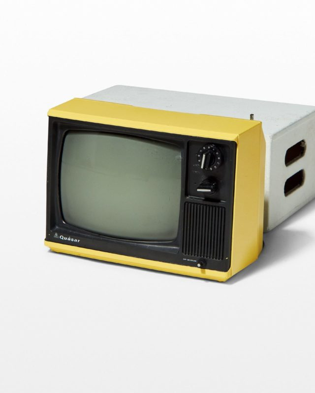 Front view of Desi Canary Television