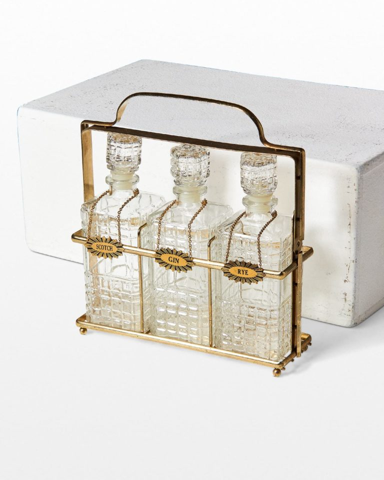 Front view of Paul Bar Decanter Set