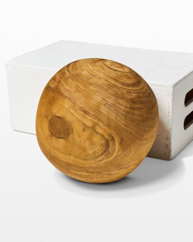 Front view of Noah Decorative Wooden Sphere