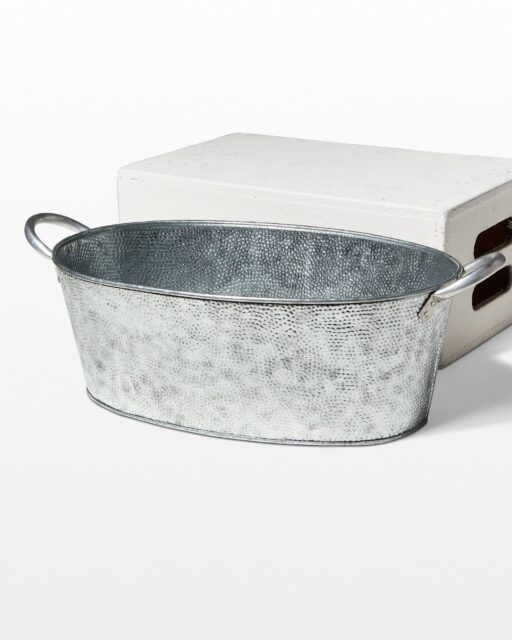 Front view of Nel Hammered Metal Basin