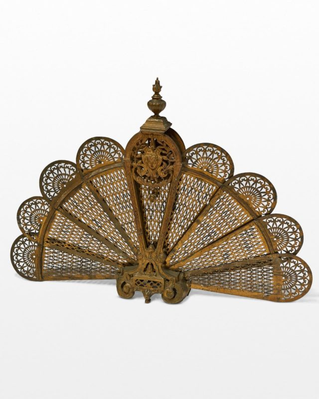 Front view of Dorene Fan Fireplace Screen