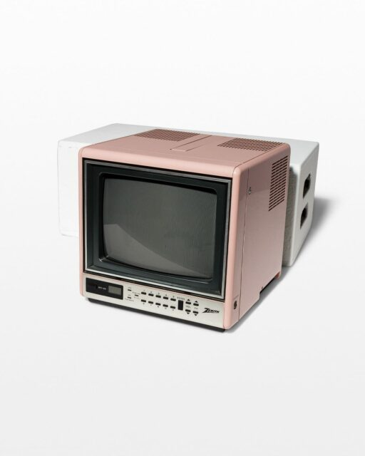 Front view of Rox Pink Cube Television