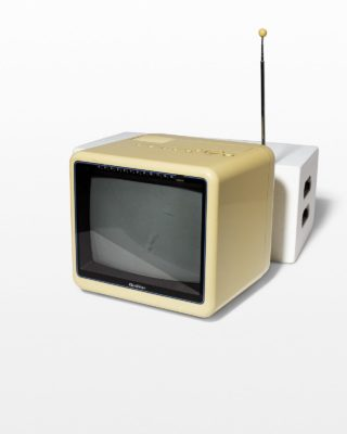 Front view of Marvin Beige Cube Television