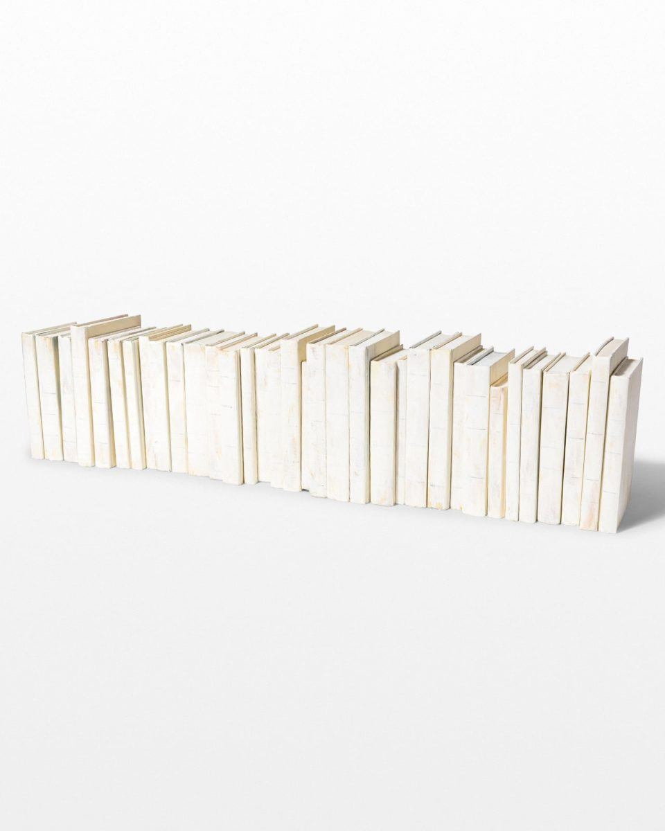 Front view of Ivory Whitewash Prop Book Set