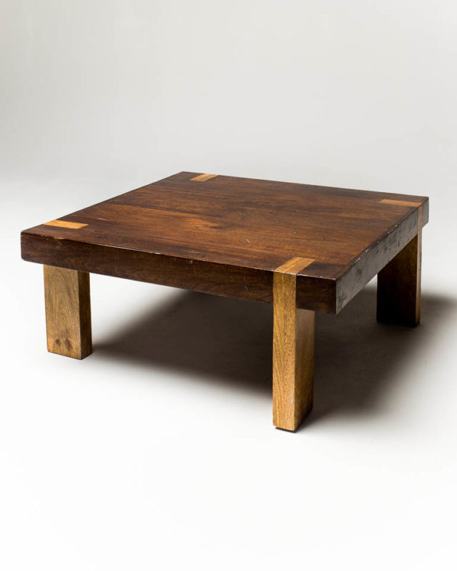 Front view of Wooden Slab Coffee Table