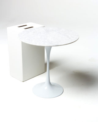Front view of Motif Marble Tulip Side Table
