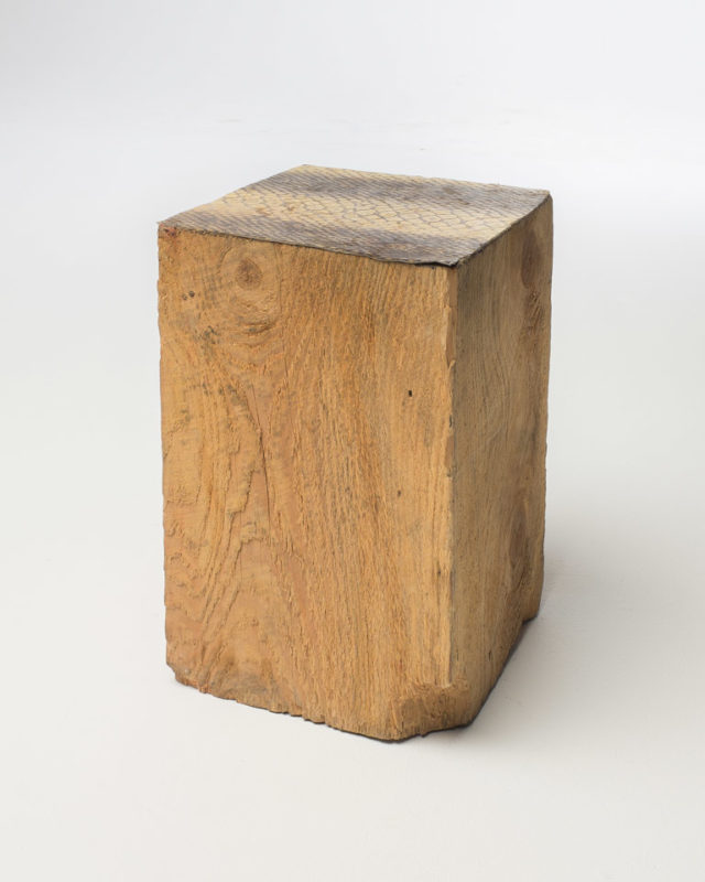 Front view of Rough Hewn Wood End Table