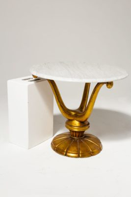 Alternate view 1 of Gold Base Marble Table