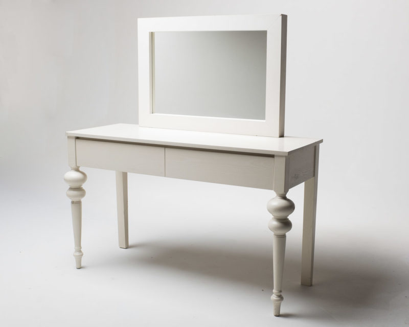 Front view of White Vanity