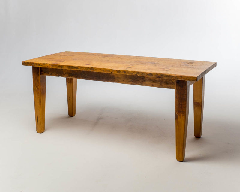 Front view of Wooden Country Table
