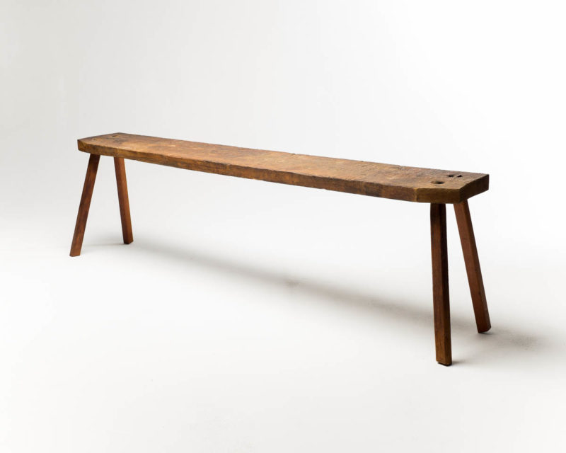 Front view of Rustic Narrow Farm Table