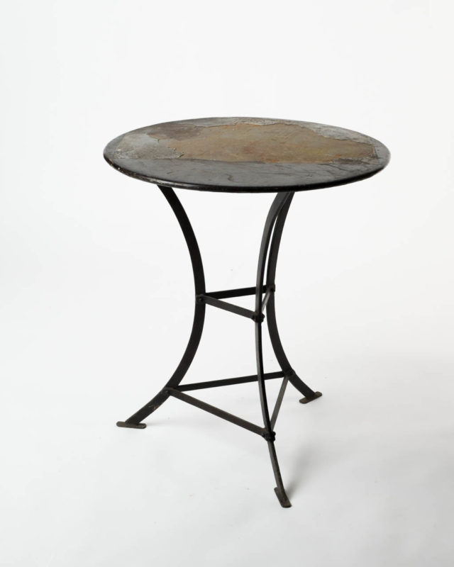 Front view of Distressed Cafe Table