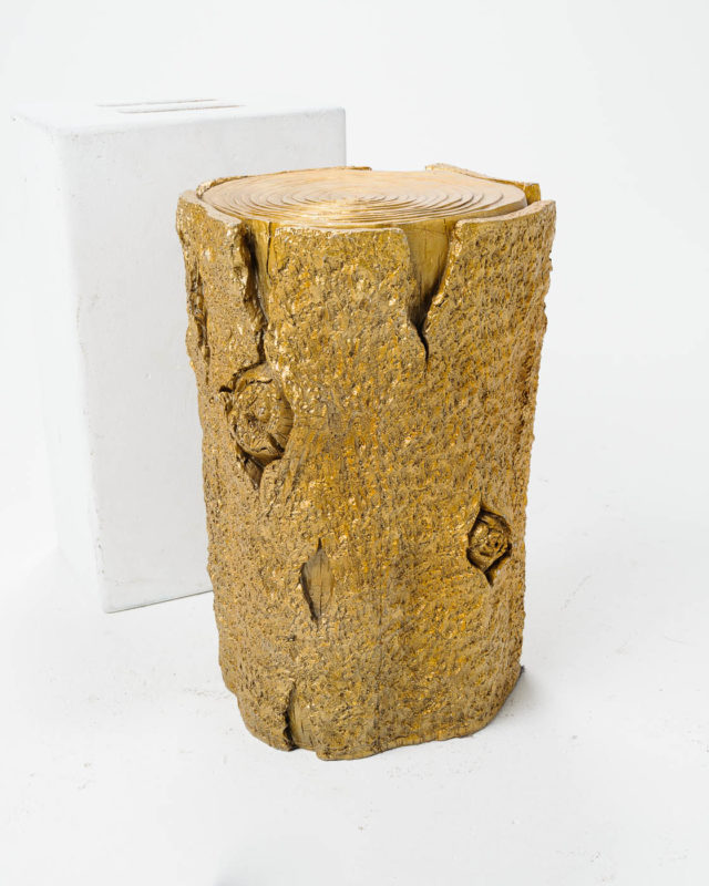 Front view of Gold Tree Branch Side Table