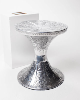 Front view of Embossed Accent Table