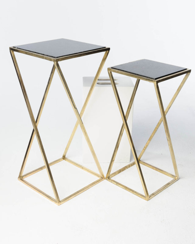 Front view of Vector Pedestal Side Tables